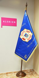 Printed banner of the Volunteer Fire Brigade (SDH) Ostrov
