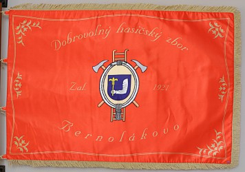 Printed banner of the Volunteer Fire Brigade (DHZ ) Bernolákovo