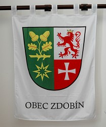 Banner of arms of Zdobín in a large version