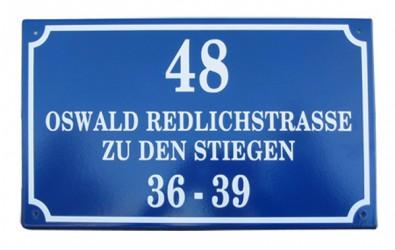 Custom-made enamel signs