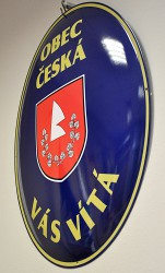 Custom-made oval signs