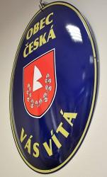 Custom-made oval signs