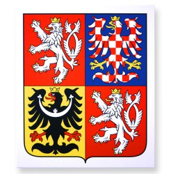 Plastic coat of arms of the Czech Republic