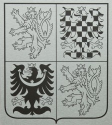 Greater coat of arms of the Czech Republic made of aluminum sheets (dibond)