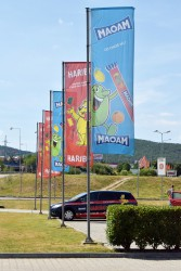 Printed promotional flags for Haribo