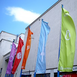 Outdoor flags for Sokol Brno I