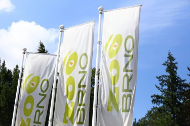Printed outdoor flags for Zoo Brno
