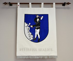 Banner of arms made for Stříbrná Skalice, large version