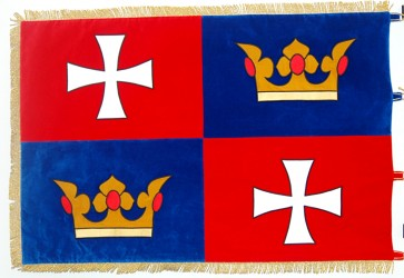 Embroidered ceremonial flag for Chvalšiny