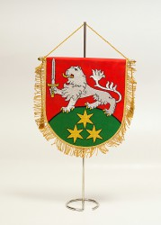 Embroidered table flags