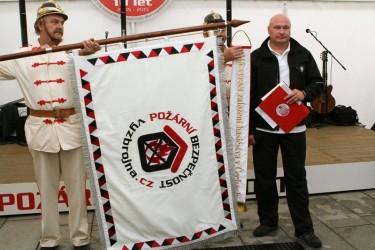 Embroidered flag for Požární bezpečnost s.r.o. [Fire Safety]