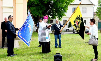 Blessing of the flag and the fire brigade banner of Polepy