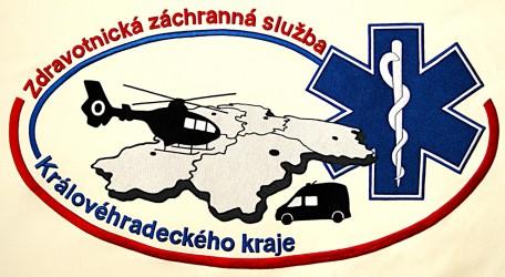 Close-up of the embroidery, Emergency Medical Services of the Hradec Králové Region (ZZS KHK), obverse
