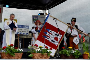 Blessing of the flag of Kostelec na Hané