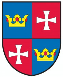The coat of arms of Chvalšiny