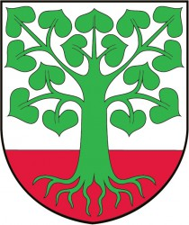 The coat of arms of Klokočov