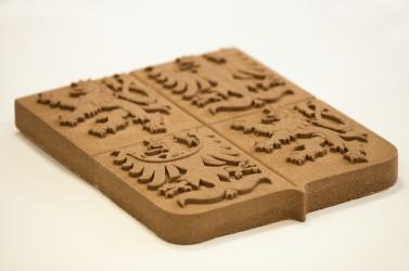 Výroba pískovcového velkého státního znaku