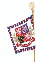 Vyšívaná vlajka prezidenta ČR