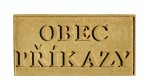 Pískovcová tabulka s názvem obce, města, městysu