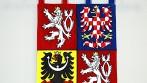 Vyšívaná velký státní znak ČR ve tvaru štítu
