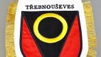 Ukázka vyšívané stolní vlaječky se znakem a názvem obce, města, městysu